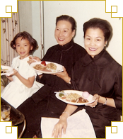 My grandmother, mother, and me photographed about 30 years before<br />The Wisdom of the Chinese Kitchen